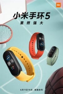 the first official image of xiaomi mi band 5 launch on june 11th 203x300 - Multiple promotional posters released of Xiaomi Mi Band 5, press event on June 11th