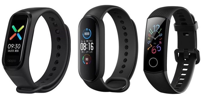 xiaomi mi band 5 vs honor band 5 vs oppo band here how they compare - Xiaomi Mi Band 5 vs Honor Band 5 vs Oppo Band: which is better?