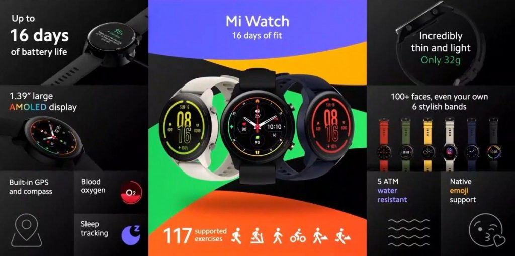 xiaomi to release the new mi watch revolve aka mi watch color globally 1 1024x509 - The €99 Xiaomi Mi Watch comes to Europe