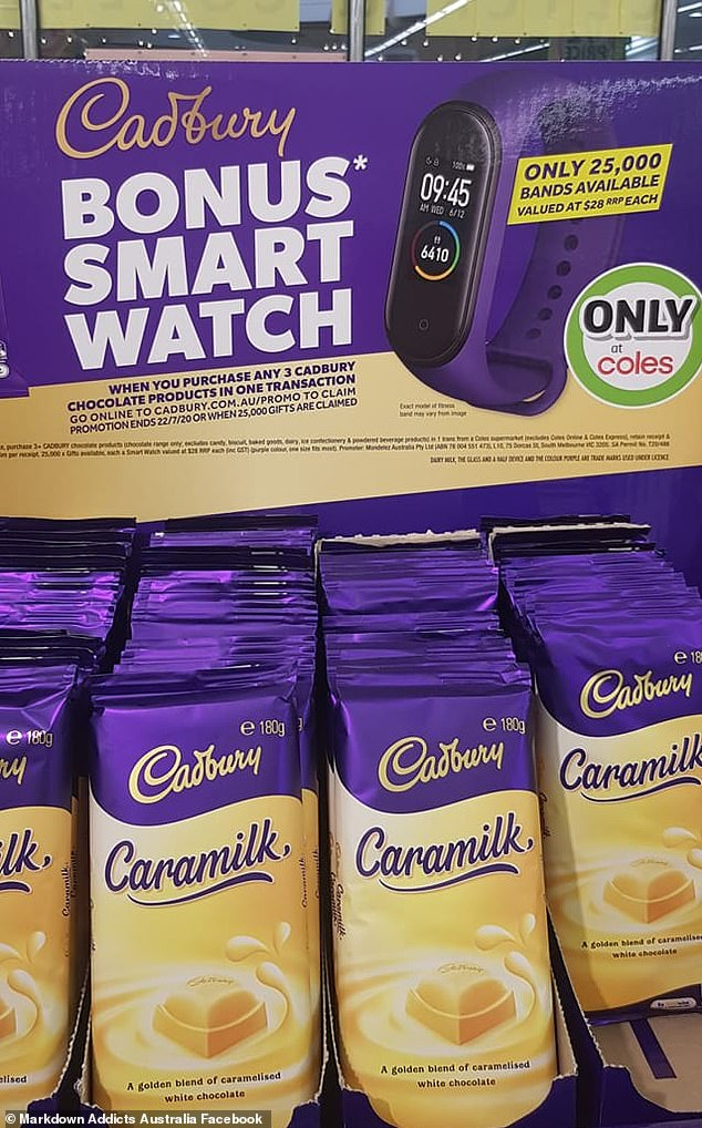 Customers can score one of 25,000 fitness bands with Cadbury products