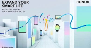 Honor to hold press conference at IFA on September 4th