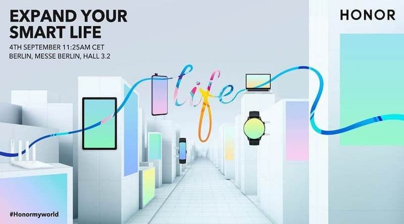 "Honor to hold ""Expand Your Smart Life"" press conference at IFA on September 4th"