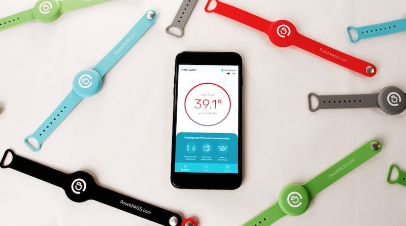 PouchPASS: round the clock smart wrist thermometer