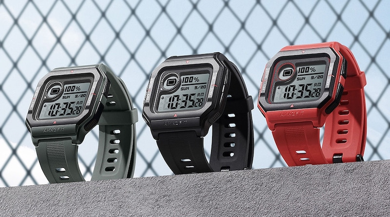 The $49.99 Amazfit Neo comes with a retro four-sided screen