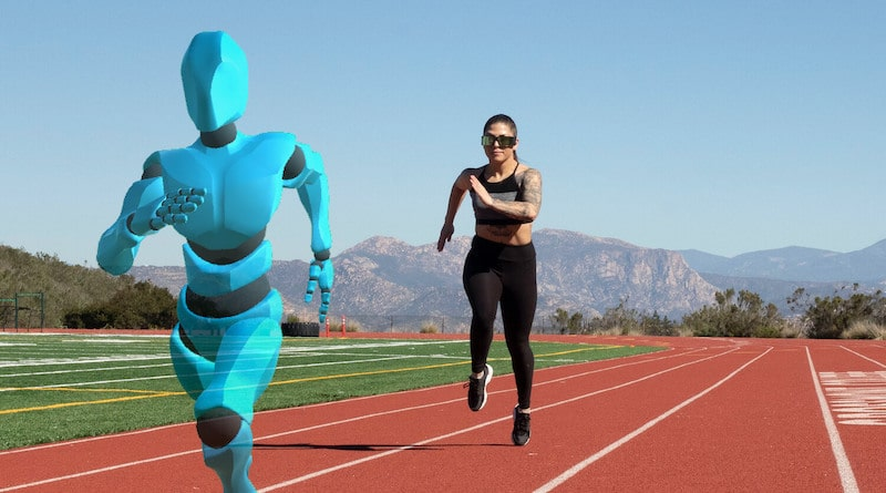 The Ghost Pacer: race against an augmented reality running partner