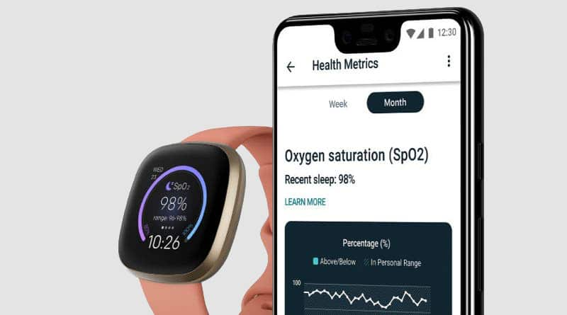 Fitbit's SpO2 clock face allows you to check blood oxygen levels with ease