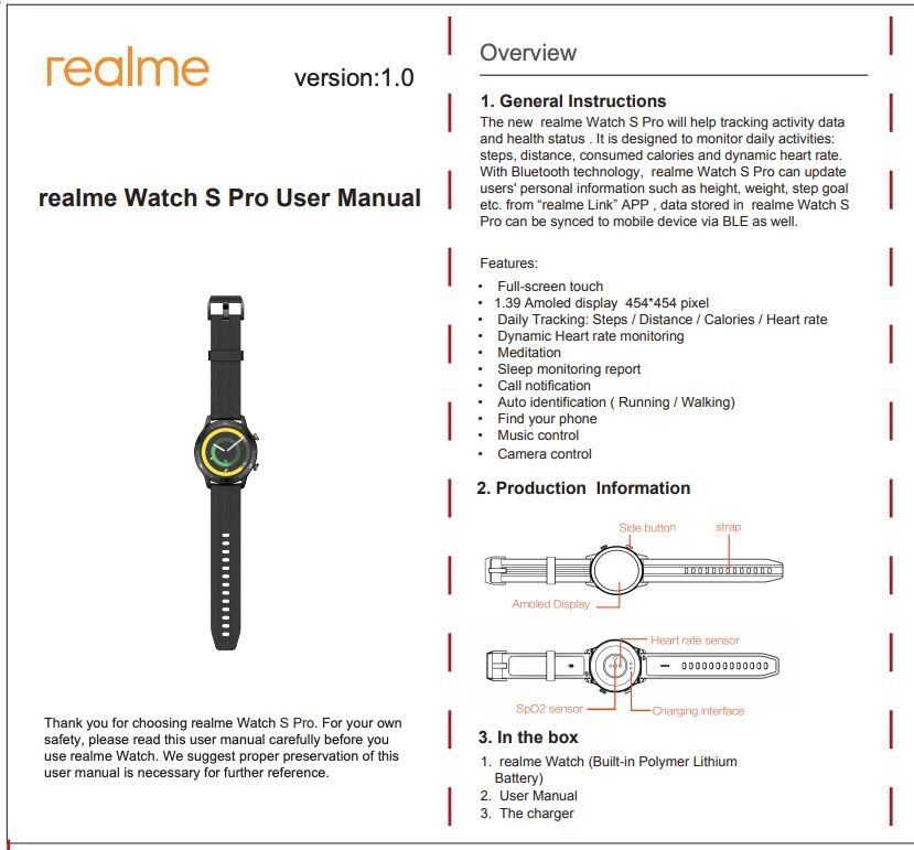 realme watch s pro drops by the fcc revealing key features 2 - Realme Watch S Pro drops by the FCC revealing key features
