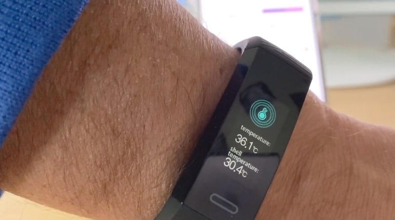 Sensoria's first smart band tracks activity, temperature & blood oxygenation