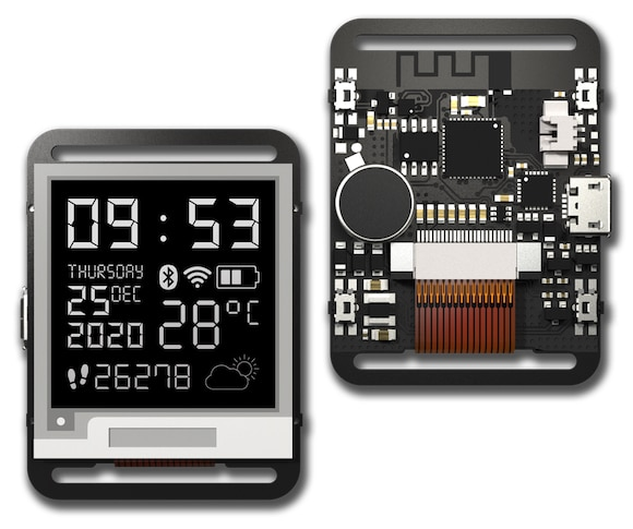a pebble replacement watchy arduino e paper smartwatch is available now 1 - A Pebble replacement? Watchy Arduino e-paper smartwatch is available now.