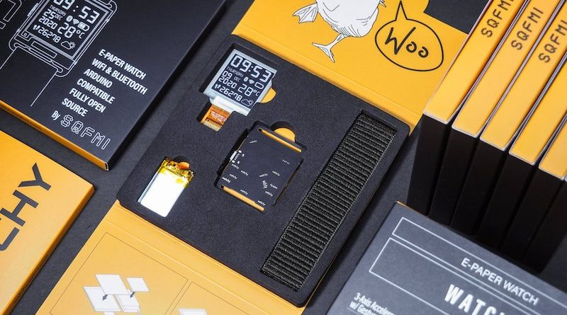 A Pebble replacement? Watchy Arduino e-paper smartwatch is available now.