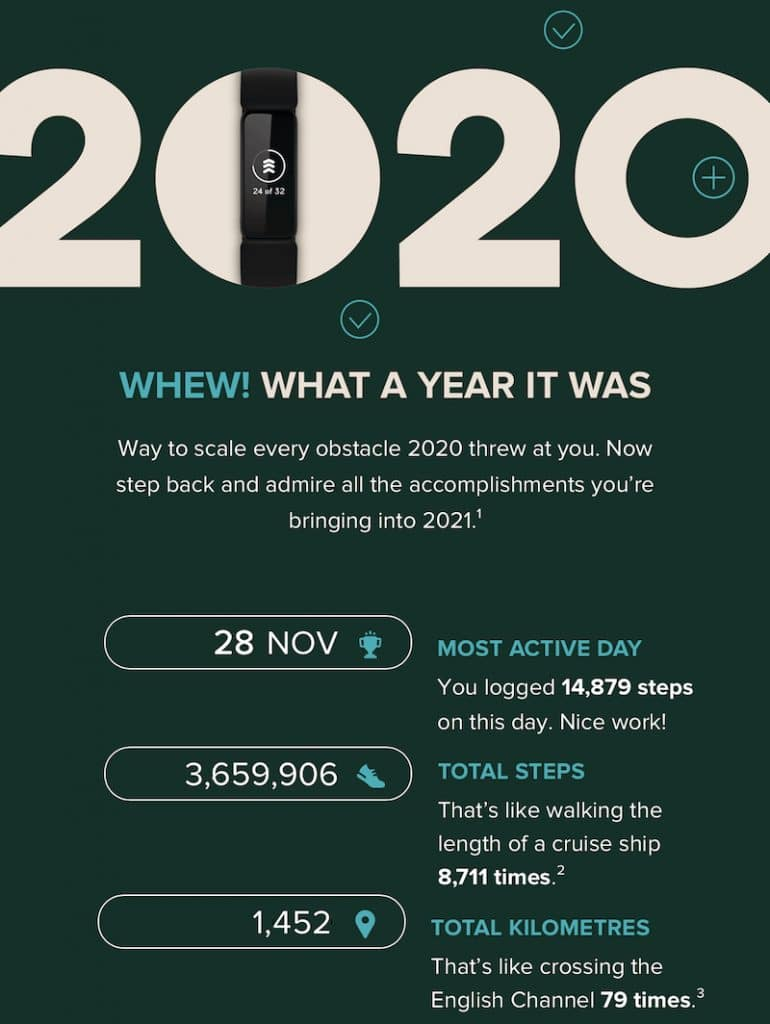 fitbit sends out end year review highlighting your accomplishments 1 770x1024 - Fitbit sends out end-year review highlighting your accomplishments