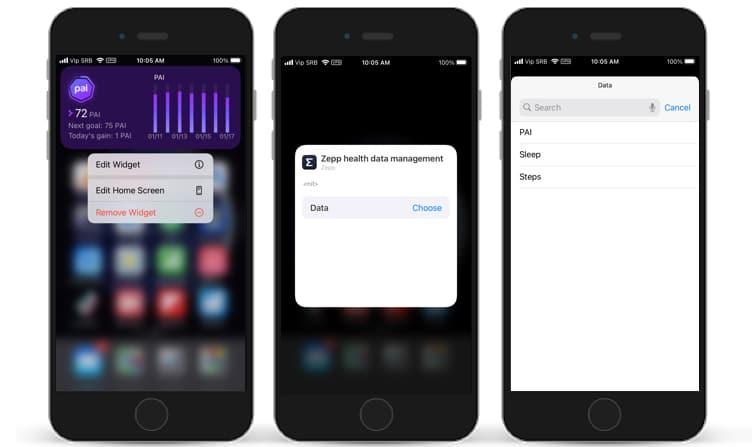 zepp app gets an ios widget here how to activate 5 - Zepp app gets an iOS widget, here's how to activate