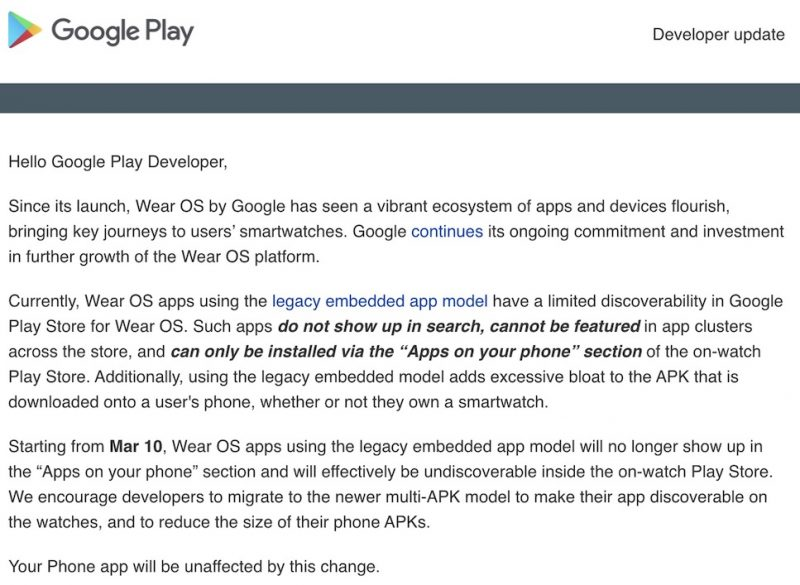 wear os wil start making it more difficult to install apps e1613404256519 - From next month it will be more difficult to install 3rd-party apps to Wear OS