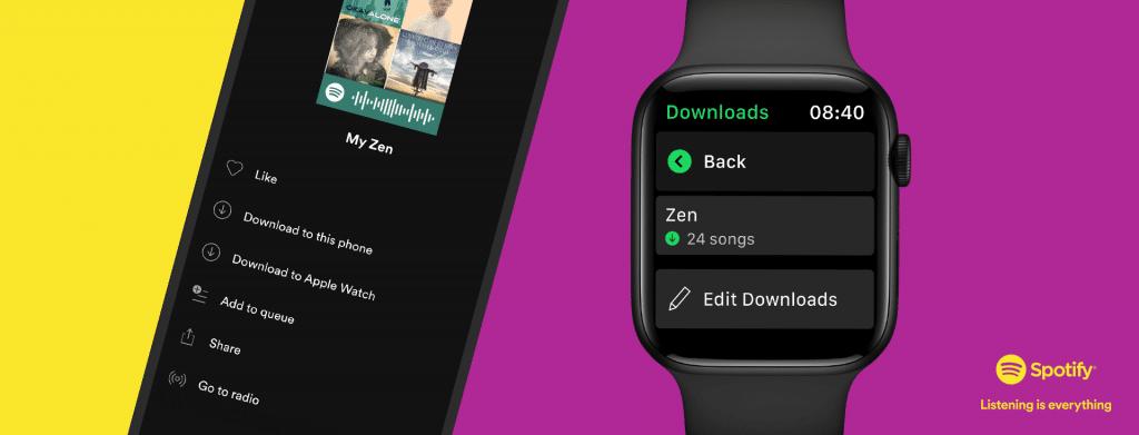 deezer spotify finally add offline playback for apple watch 1024x391 - Deezer & Spotify finally add offline playback for Apple Watch