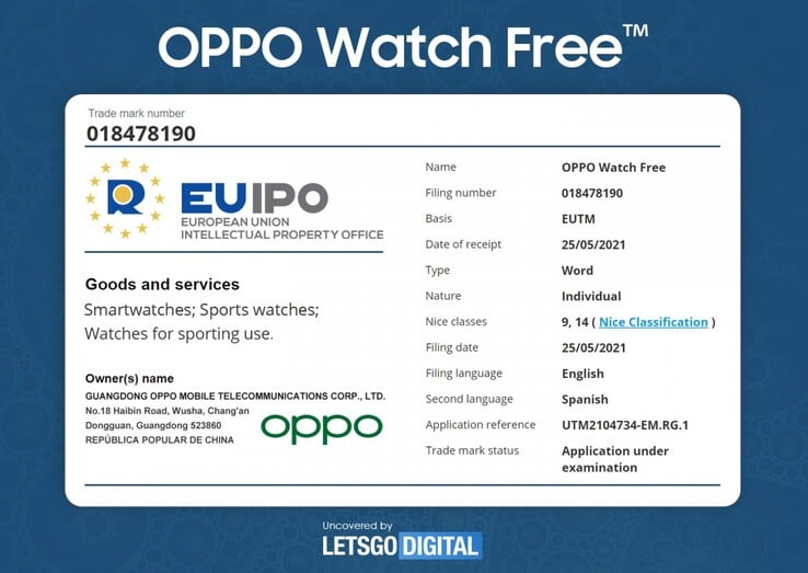 oppo secures naming wrights to oppo watch free - Oppo secures EU naming rights to Oppo Watch Free