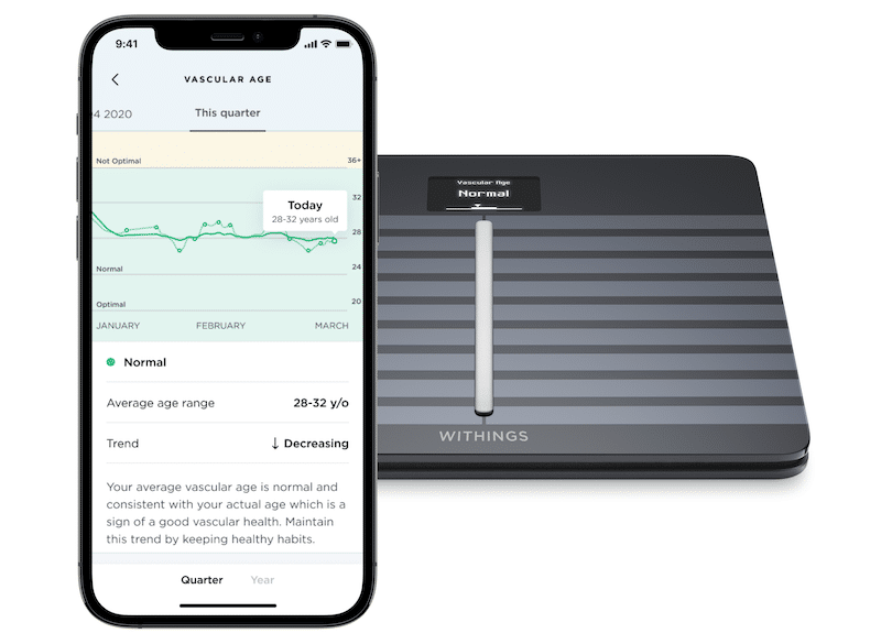 withings cardio smart scale now lets you know your vascular age - Withings Body Cardio smart scale gets Vascular Age metric