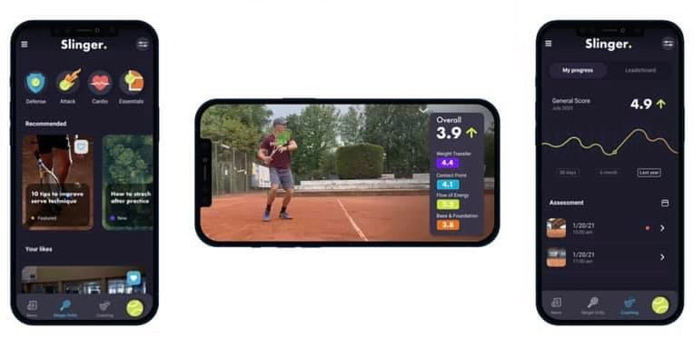 Slinger Bag to get to get a tennis app that helps improve your technique