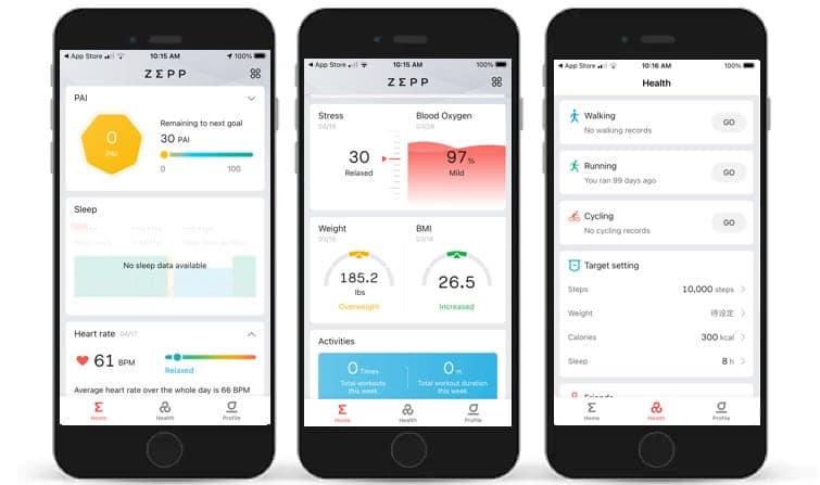 zepp app gets a visual overhaul with data cards health page - Zepp app gets a visual overhaul with data cards & health page