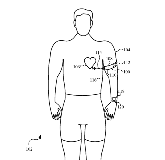 Apple bags patent for Apple Watch compatible cardiac monitoring armband